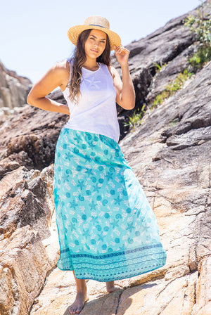 Shell Boho Cotton Beach Skirt KV461