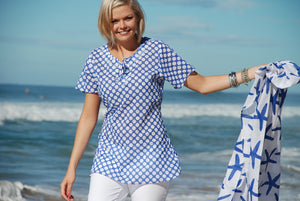 Going Dotty Tunic in breathable pure cotton KV270