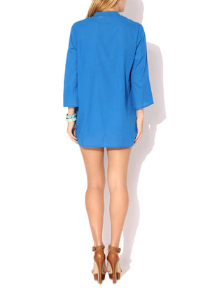 Frilly Beach Tunic in pure cotton KV284