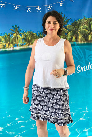 Seashell Cotton Skirt KV532
