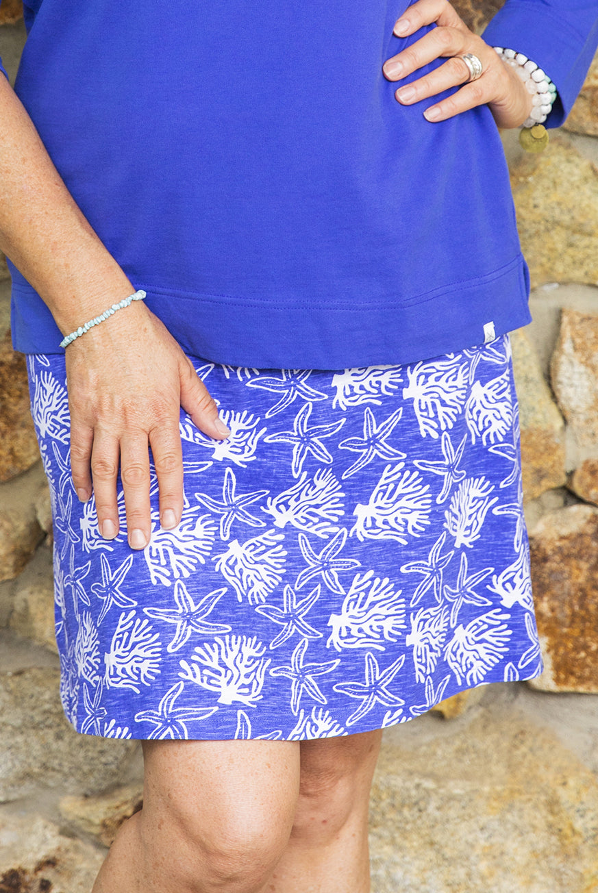 Coral Reef Cotton Skirt KV533