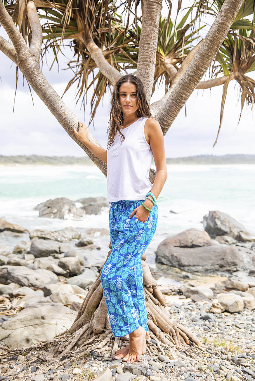 Mahalo Cotton Beach Pants KV499
