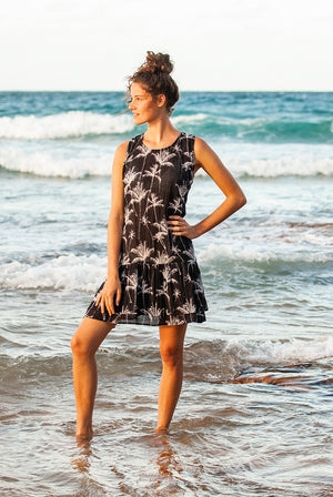 Palm Island Tank Cotton Beach Dress KV467