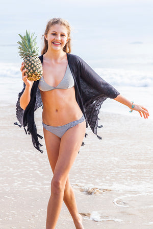 Pineapple Cotton Kimono Beach Coverup KV476
