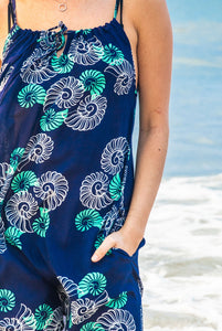 Spiral Shell Cotton Beach Dress KV491
