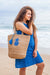 Tango Jute Cotton Beach Bag KVJBTN