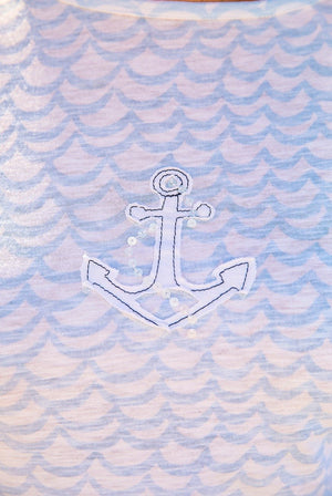 Anchor 3/4 Sleeve Cotton Top KV542