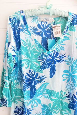 Hibiscus Pure Cotton Tunic Coverup KV388