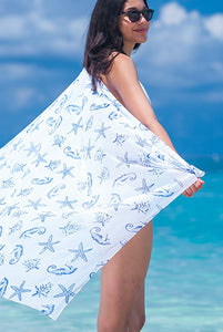 Sealife Sheer Chiffon Sarong Pareo KVSLIF