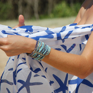 Starfish Printed Cotton Sarong Pareo KVSTFH