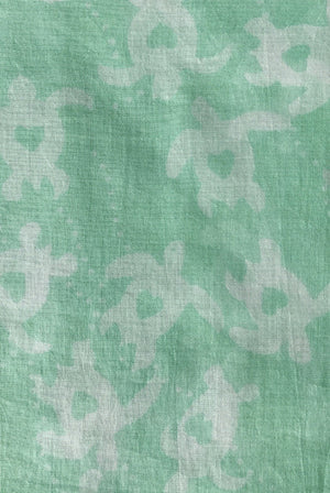 Turtle Love Printed Cotton Sarong Pareo KVTRTL
