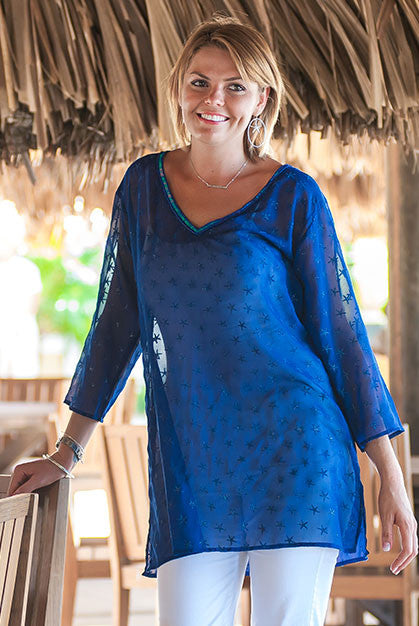 Whispers Beach Tunic Coverup KV375