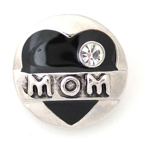 Moms heart in black