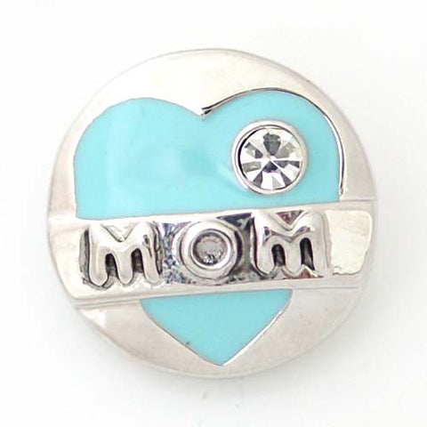 Moms heart in turquoise