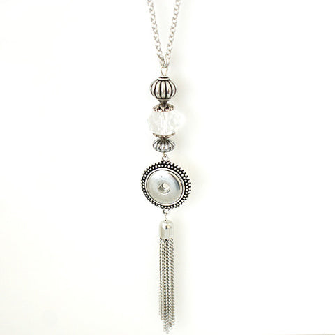 Single sharmane tassel pendant (incl.Chain)