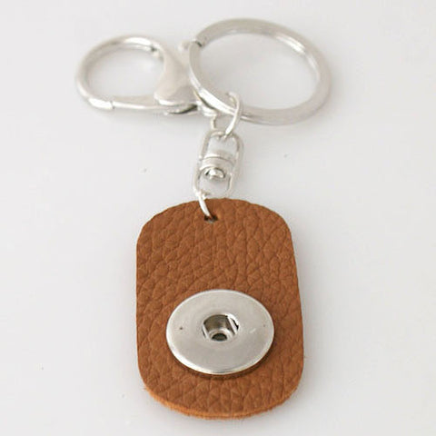 Single brown keyring