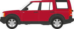 76LRD008 Land Rover Discovery 3 Rimini Red Metallic