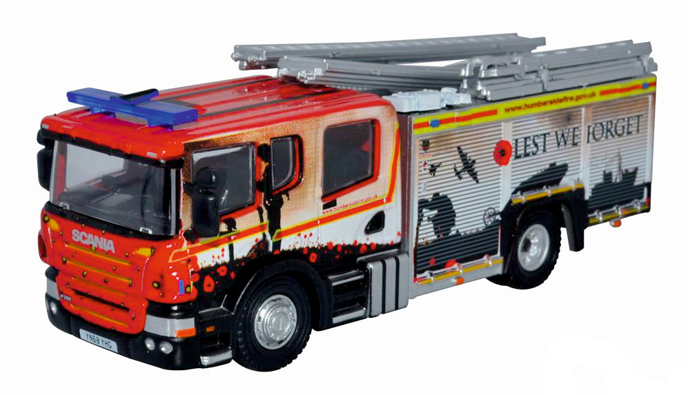 British Legion Fire Engine Humberdside FIre & Rescue from Oxford Diecast 76SFE011
