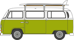 76VW028 VW Bay Window Bus/Surfboards Lime Green/White