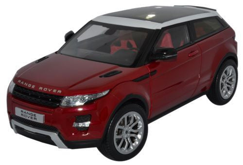 GT AUTOS Land Rover Evoque Red - 1:18 Scale - OxfordDiecast