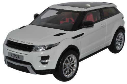 GT AUTOS Land Rover Evoque White - 1:18 Scale - OxfordDiecast