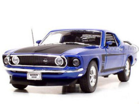 WELLY Ford Mustang 1969 Blue - 1:18 Scale