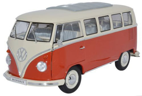 WELLY VW Bus Cream & Red - 1:18 Scale