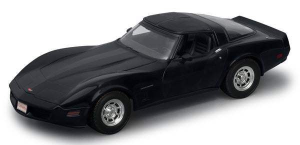 WELLY Chevrolet Corvette 1982 Black - 1:18 Scale