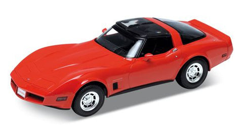 WELLY Chevrolet Corvette 1982 Red - 1:18 Scale