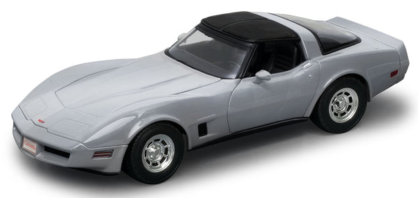 WELLY Chevrolet Corvette 1982 Silver - 1:18 Scale