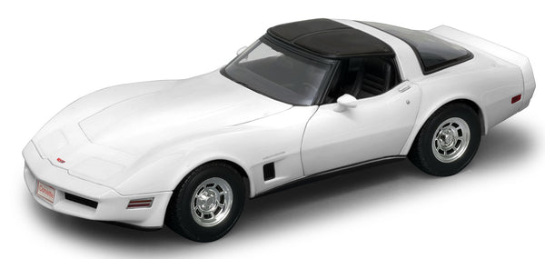 WELLY Chevrolet Corvette 1982 White - 1:18 Scale