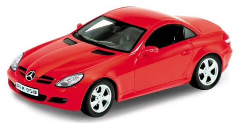 WELLY Mercedes Benz SLK350 Hard Top Red - 1:18 Scale