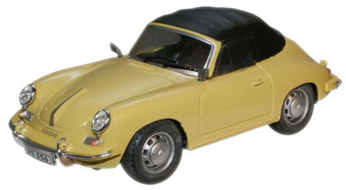 CARARAMA Porsche 356 Yellow - 1:43 Scale - OxfordDiecast