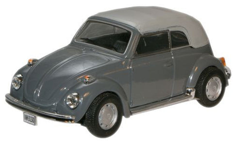 CARARAMA VW Beetle Convertible Grey - 1:43 Scale - OxfordDiecast