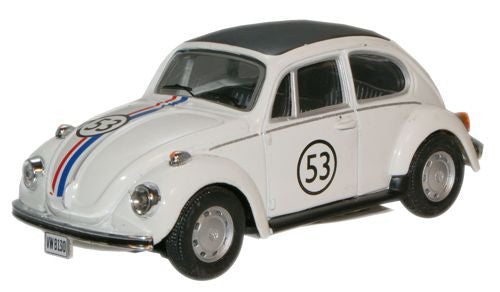 CARARAMA VW Beetle White 53 - 1:43 Scale - OxfordDiecast