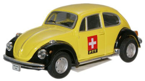 CARARAMA VW Beetle Yellow PTT - 1:43 Scale - OxfordDiecast