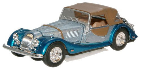 CARARAMA Morgan Plus Eight Silver/Blue - 1:43 Scale - OxfordDiecast