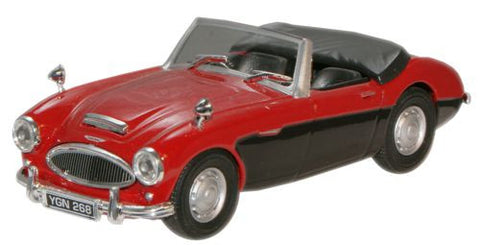 CARARAMA Austin Healey Red/Black - 1:43 Scale - OxfordDiecast