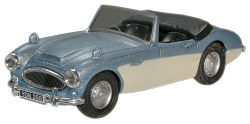 CARARAMA Austin Healey Blue/Cream - 1:43 Scale - OxfordDiecast