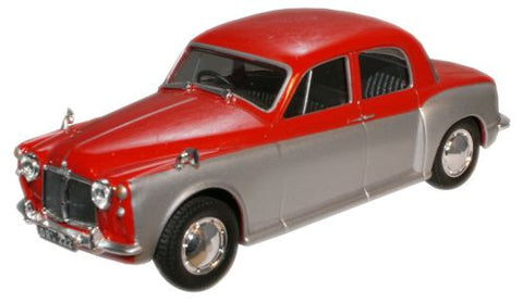 CARARAMA Rover 90 Red/Silver Grey - 1:43 Scale - OxfordDiecast