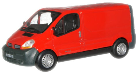 CARARAMA 1:43 Renault Traffic Red - 1:43 Scale - OxfordDiecast