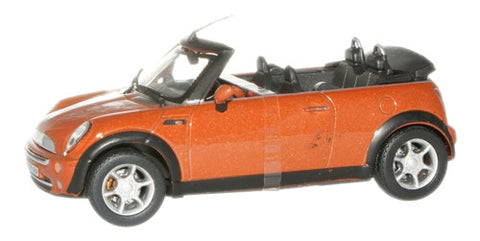 CARARAMA 1:43 New Mini Cooper Cabriolet Orange Met - 1:43 Scale - OxfordDiecast