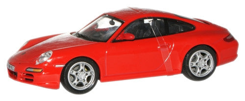 CARARAMA 1:43 Porsche 911 Carrera S Coupe Red - 1:43 Scale - OxfordDiecast
