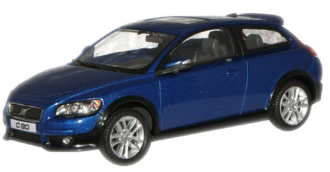 CARARAMA 1:43 Volvo C30 Metallic Blue - 1:43 Scale - OxfordDiecast
