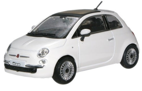 CARARAMA Fiat 500 New White - 1:43 Scale - OxfordDiecast