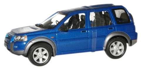 CARARAMA 1:43  Land Rover Freelander Metallic Blue - 1:43 Scale - OxfordDiecast