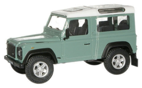 CARARAMA 1:43 Land Rover Defender - Grey/Green - 1:43 Scale - OxfordDiecast