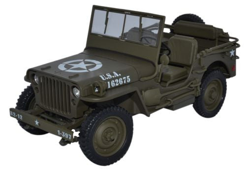 WELLY 1/4 Ton US Army Truck - 1:18 Scale