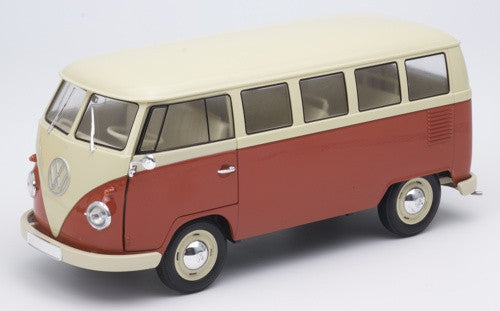 Welly Volkswagen T1 Bus Red & Cream
