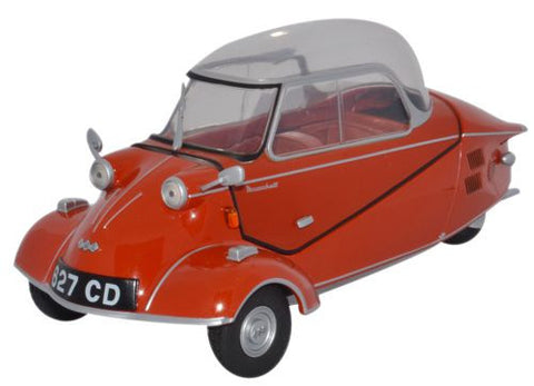 Oxford Diecast Messerschmitt KR200 Bubble Car Rouge Sarde - 1:18 Scale